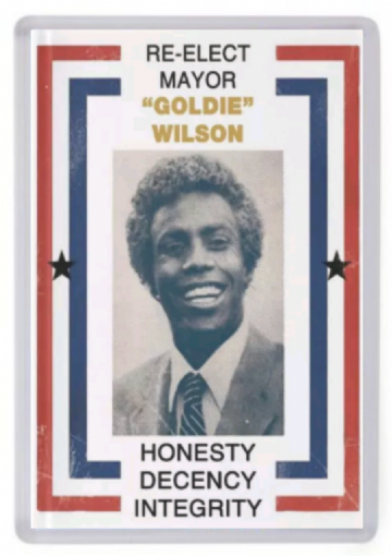 Re-Elect Mayor Goldie Wilson Fridge Magnet. Inspired by Back to the Future